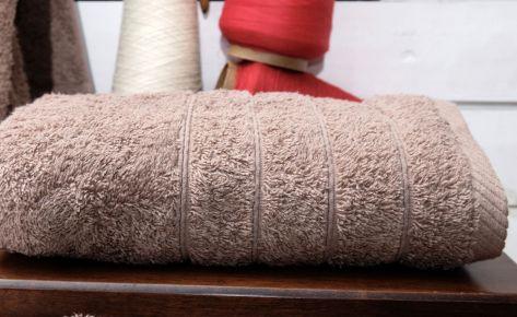 Πετσέτα μόκα με κεντημένο μονόγραμμα