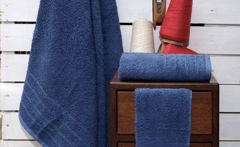 Πετσέτα μπλε με κεντημένο όνομα