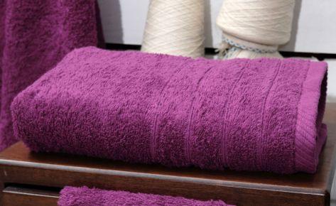 Πετσέτα μωβ με κεντημένο όνομα
