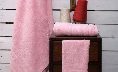 Πετσέτα ροζ με κεντημένο όνομα