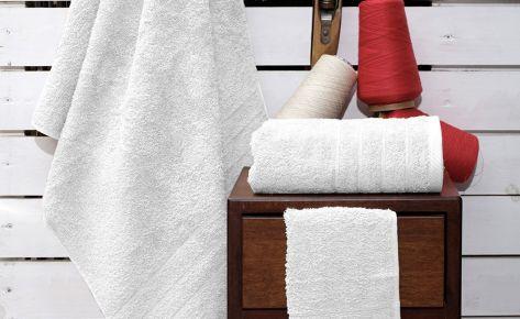 Πετσέτα λευκή με κεντημένο όνομα