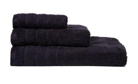 Πετσέτα μαύρη με κεντημένο όνομα