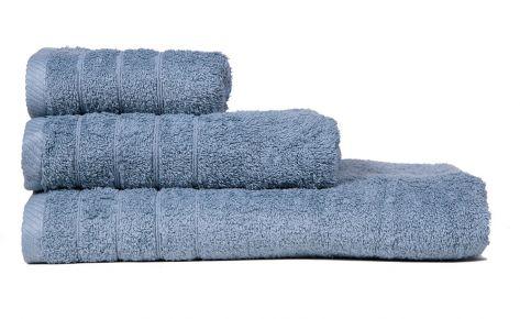 Πετσέτα μωβ με κεντημένο μονόγραμμα