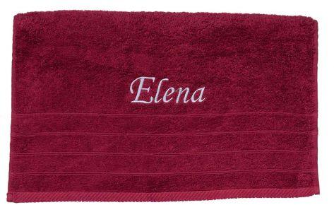 Πετσέτα κόκκινη με κεντημένο όνομα