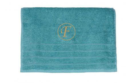 Πετσέτα ροζ με κεντημένο μονόγραμμα