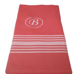 Πετσέτες pestemal με κεντημένο μονόγραμμα