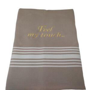 Πετσέτες pestemal με κεντημένη φράση